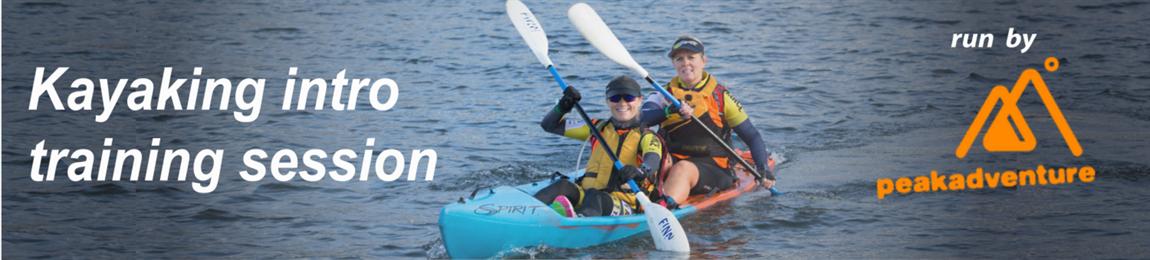 Kayaking intro training session