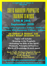 Coffs Harbour Prophetic Training Seminar