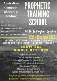 Caboolture 2 Day Prophetic Training School
