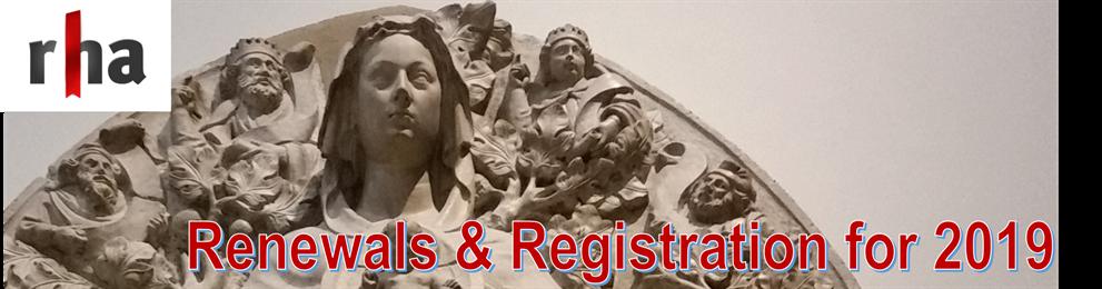 RHA Member Renewals & Registrations 2019 - Welcome