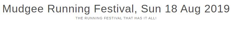 Mudgee Running Festival 2019