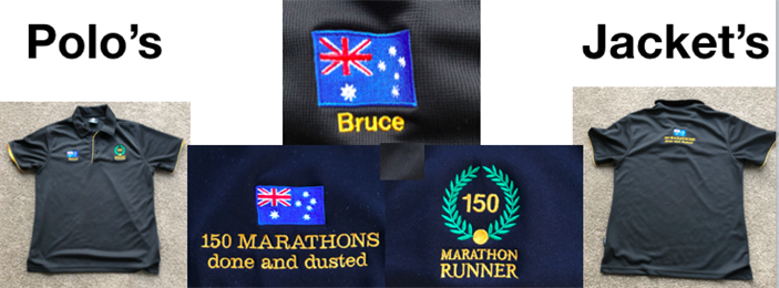 Diggers Marathon Runners Polo's and Jackets