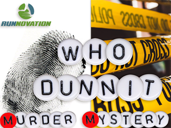 Who dunnit murder mystery virtual run